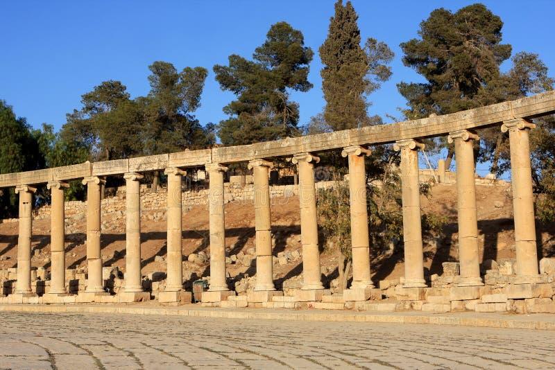 Jerash city, Jordan. Ruins of the Roman city of Gerasa, Jerash, Jordan royalty free stock image