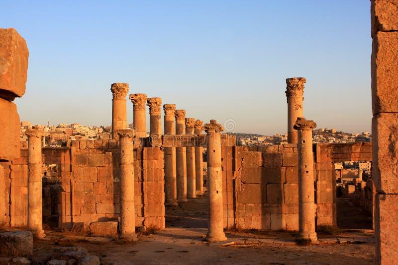 Jerash city, Jordan. Ruins of the Roman city of Gerasa, Jerash, Jordan stock photography