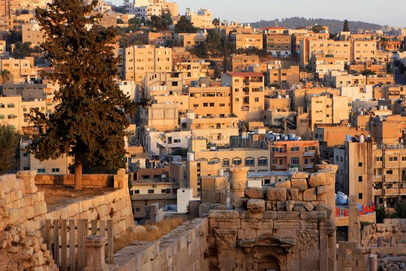 Jerash city, Jordan. Ruins of the Roman city of Gerasa, Jerash, Jordan royalty free stock photography