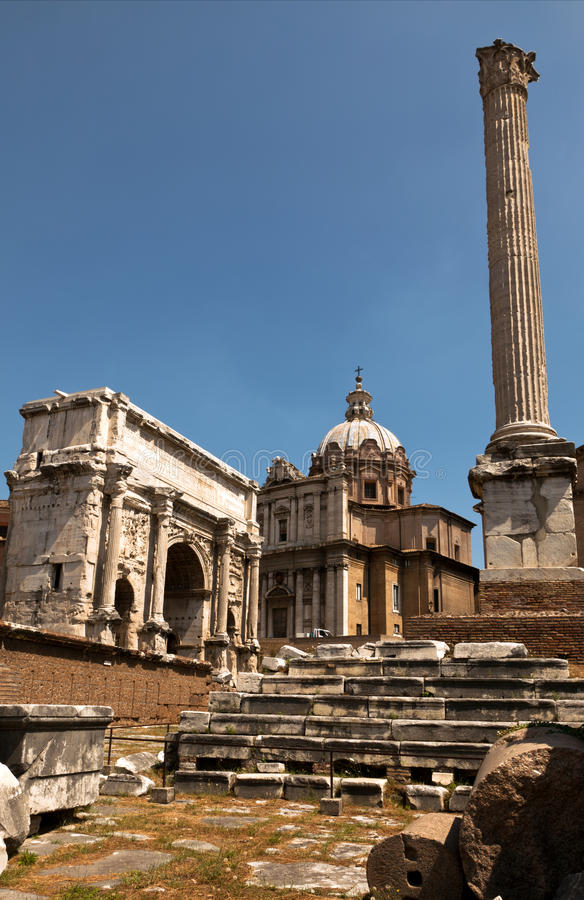 Download Ruins of the Roman Forum stock image. Image of european - 26678515