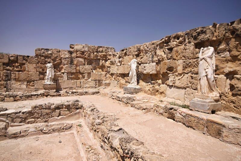 Ruins of Salamis, Northern Cyprus. The ruins of Salamis, Northern Cyprus royalty free stock photo
