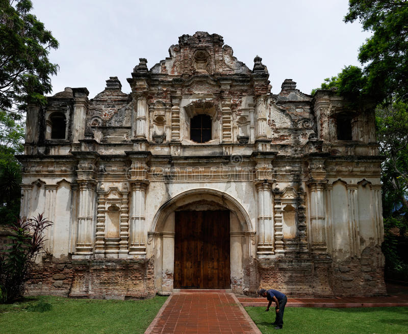 Ruins of San Jose El Viejo, Guatemala. The ruins of San Jose El Viejo Church in Antigua Guatemala royalty free stock photos