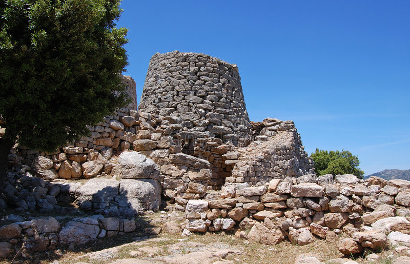 Ruins In Sardinia Stock Images