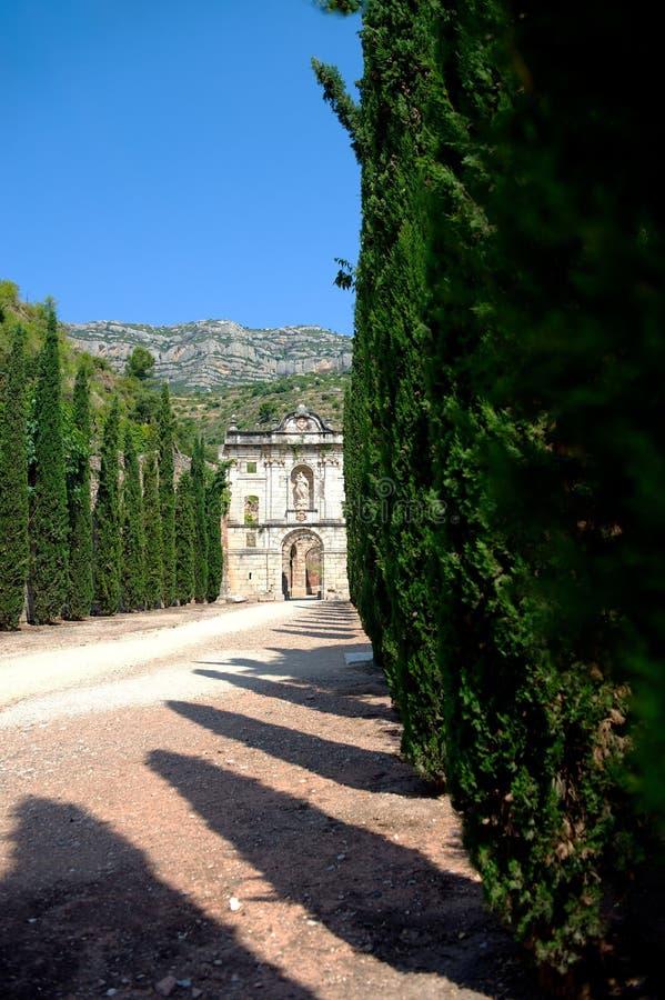 Ruins of Scala Dei monastery, Priorat (aka Priorato), Spain royalty free stock photography