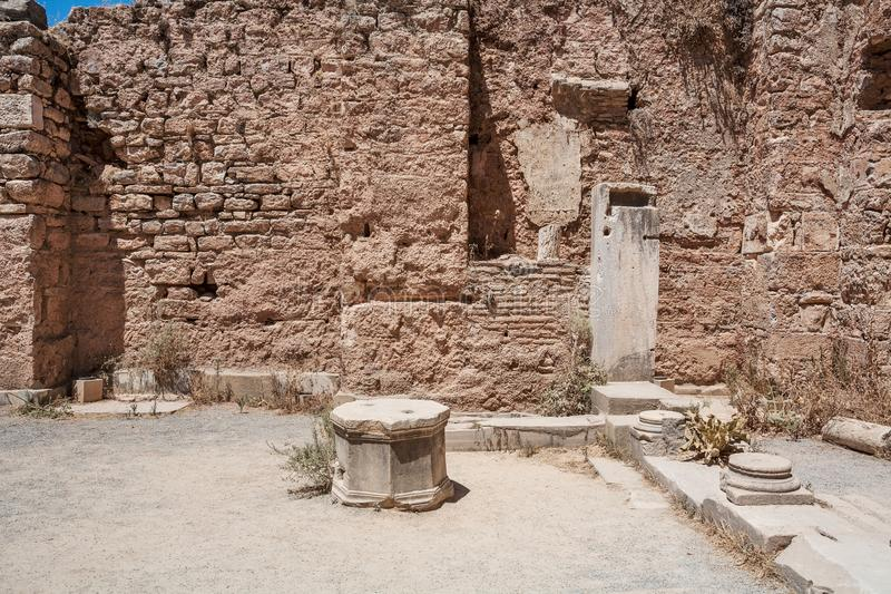 Ruins of Scholastica Baths. Ephesus. Selcuk in Izmir Province, Turkey. Ruins of Scholastica Baths. Ephesus. Selcuk in Izmir Province. Turkey royalty free stock photography