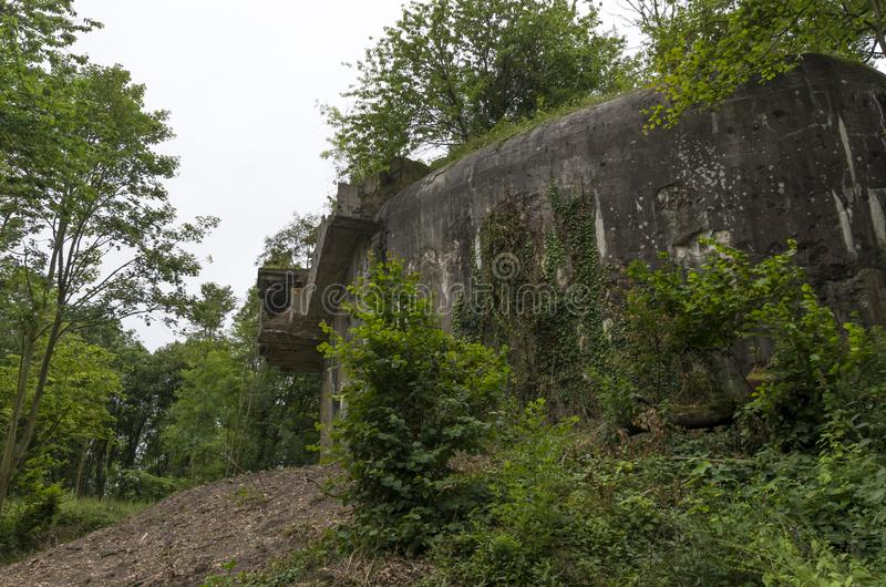 Ruins of WWII era battery. Ruins of the Second World War era Todt Battery on the Northern coastlines of France stock photography