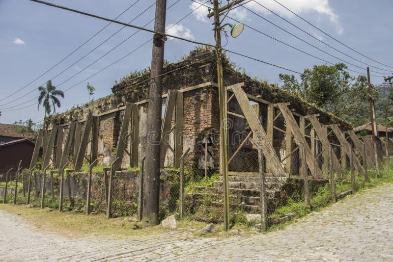 Ruins of the Serrano Atlético Clube - Paranapiacaba - Brazil. Ruins of the Serrano Atlético Clube, a soccer team - Paranapiacaba - Santo André - Brazil stock photography