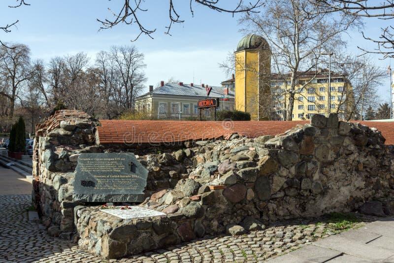 Ruins of sixteenth century Turkish barracks in Sofia, Bulgaria. SOFIA, BULGARIA - MARCH 17, 2018: Ruins of sixteenth century Turkish barracks in Sofia, Bulgaria royalty free stock image
