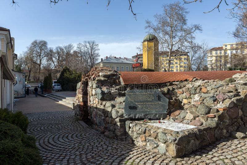 Ruins of sixteenth century Turkish barracks in Sofia, Bulgaria. SOFIA, BULGARIA - MARCH 17, 2018: Ruins of sixteenth century Turkish barracks in Sofia, Bulgaria royalty free stock photography