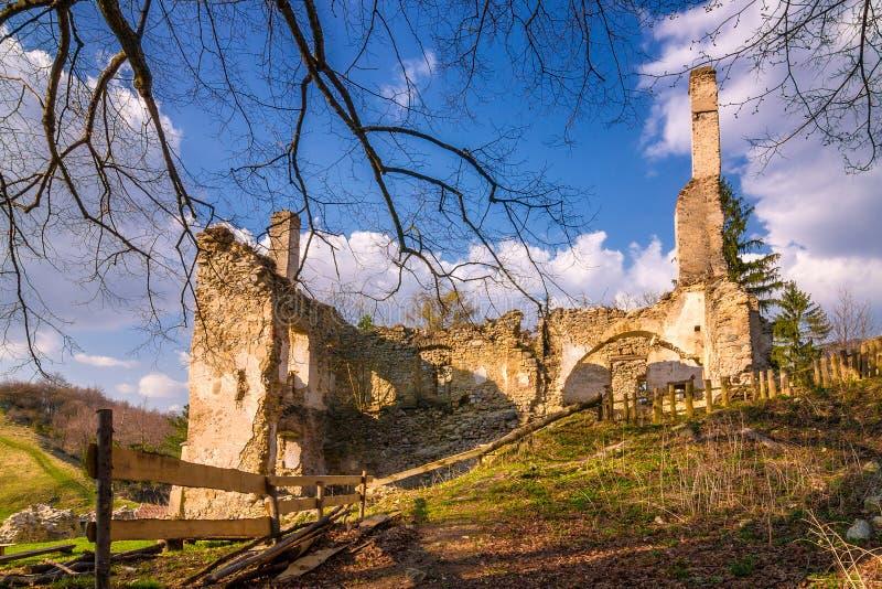 Ruins of Sklabina castle, Slovakia. Ruins of Sklabina castle, Slovakia, Europe royalty free stock photos