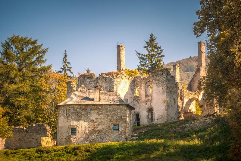 Ruins of Sklabina castle, Slovakia. royalty free stock images