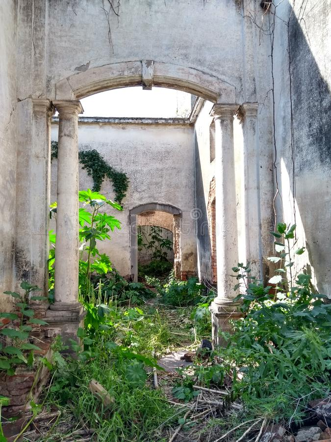 Ruins of Spain hacienda arkivbilder