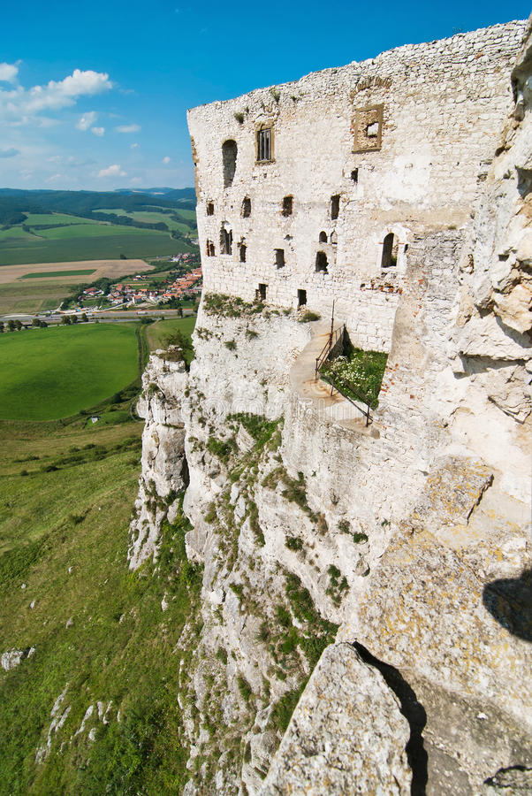 Ruins of Spis Castle royalty free stock photo
