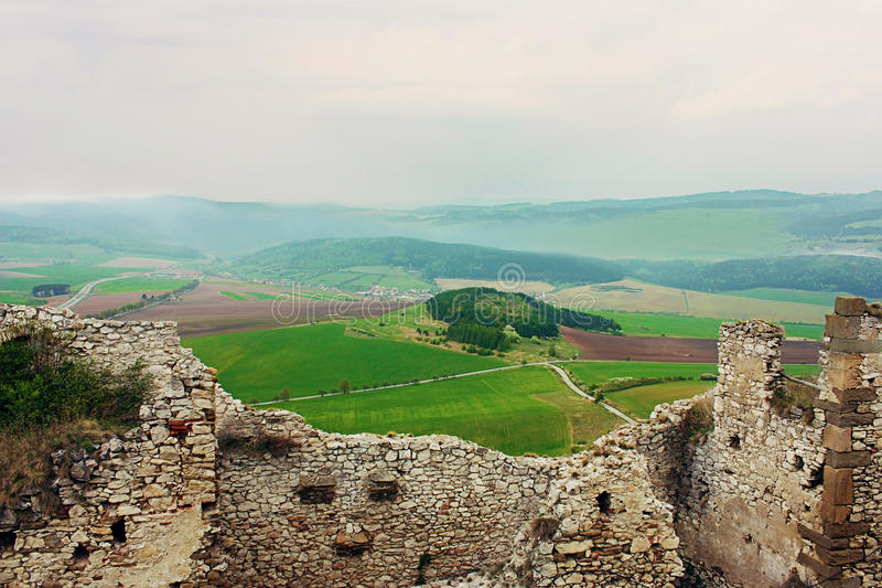 Ruins of Spiss Castle, Slovakia stock photos