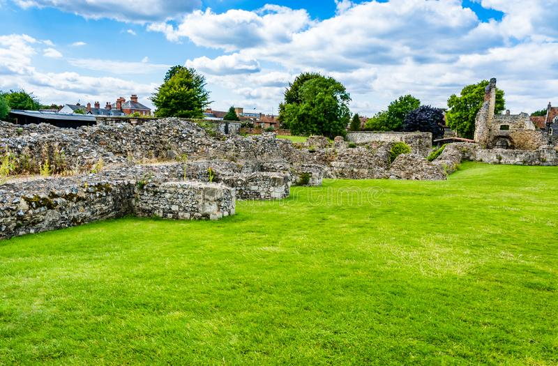 Ruins of St Augustine's Abbey in Canterbury, Kent, UK stock photography