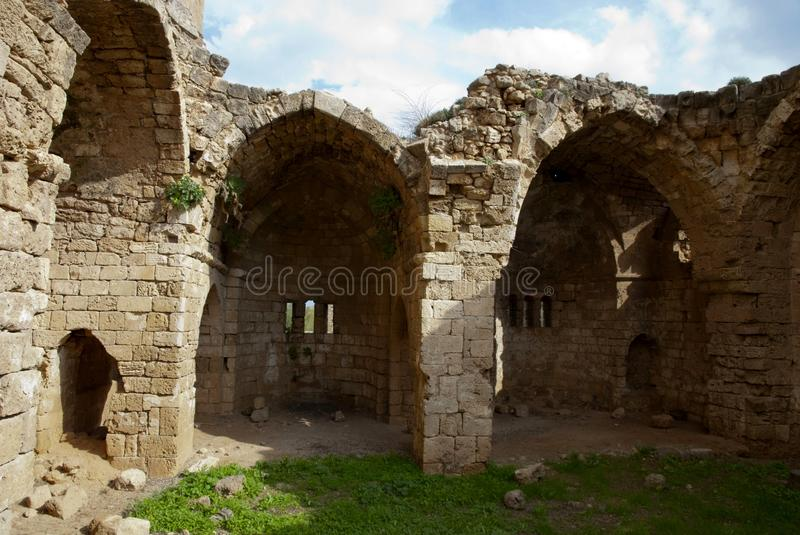 Ruins of St George of the Greeks Church. In Famagusta,Turkish Republic of Northern Cyprus royalty free stock images