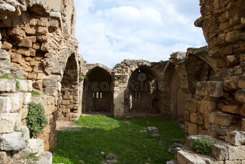 Ruins of St George of the Greeks Church. In Famagusta,Turkish Republic of Northern Cyprus royalty free stock photo