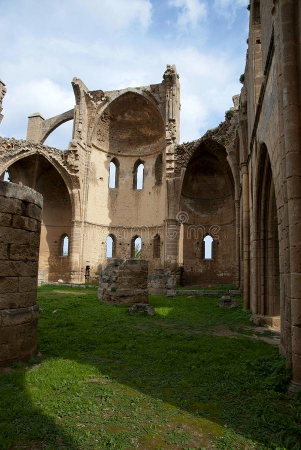 Ruins of St George of the Greeks Church. In Famagusta,Turkish Republic of Northern Cyprus royalty free stock image