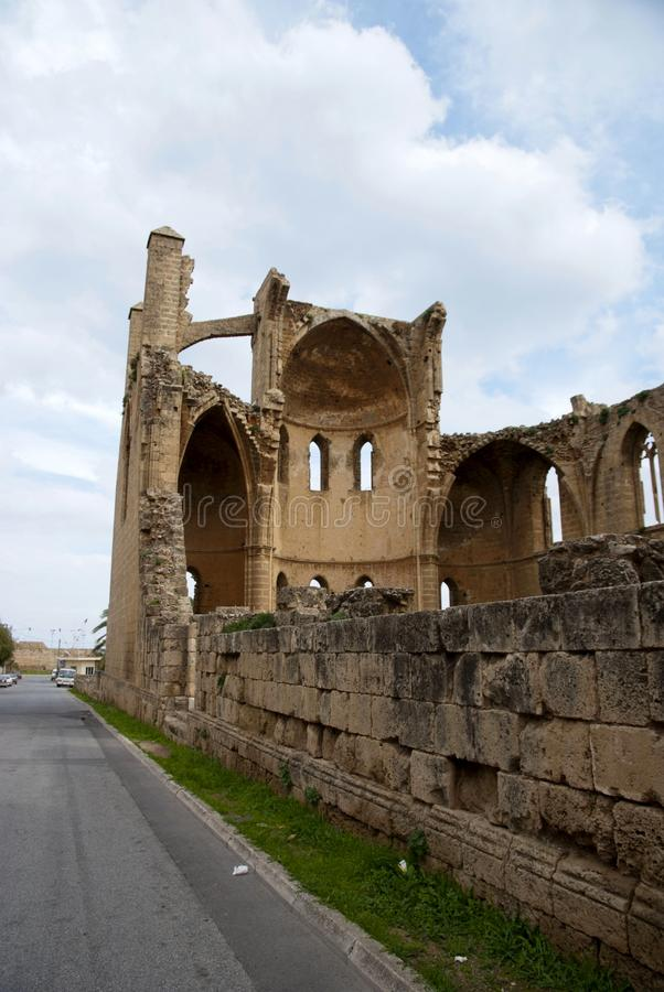 Ruins of St George of the Greeks Church. In Famagusta,Turkish Republic of Northern Cyprus royalty free stock photos