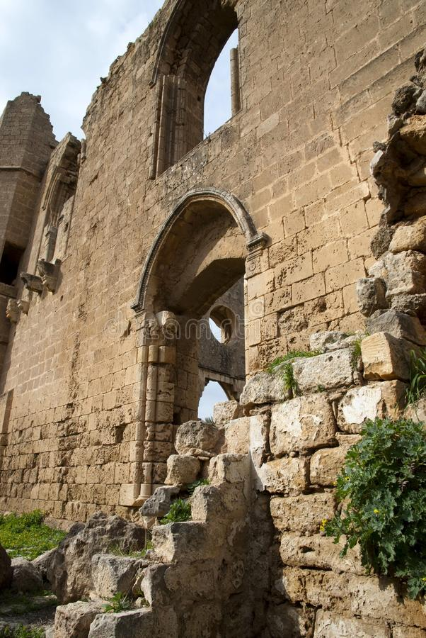 Ruins of St George of the Greeks Church. In Famagusta,Turkish Republic of Northern Cyprus stock photos