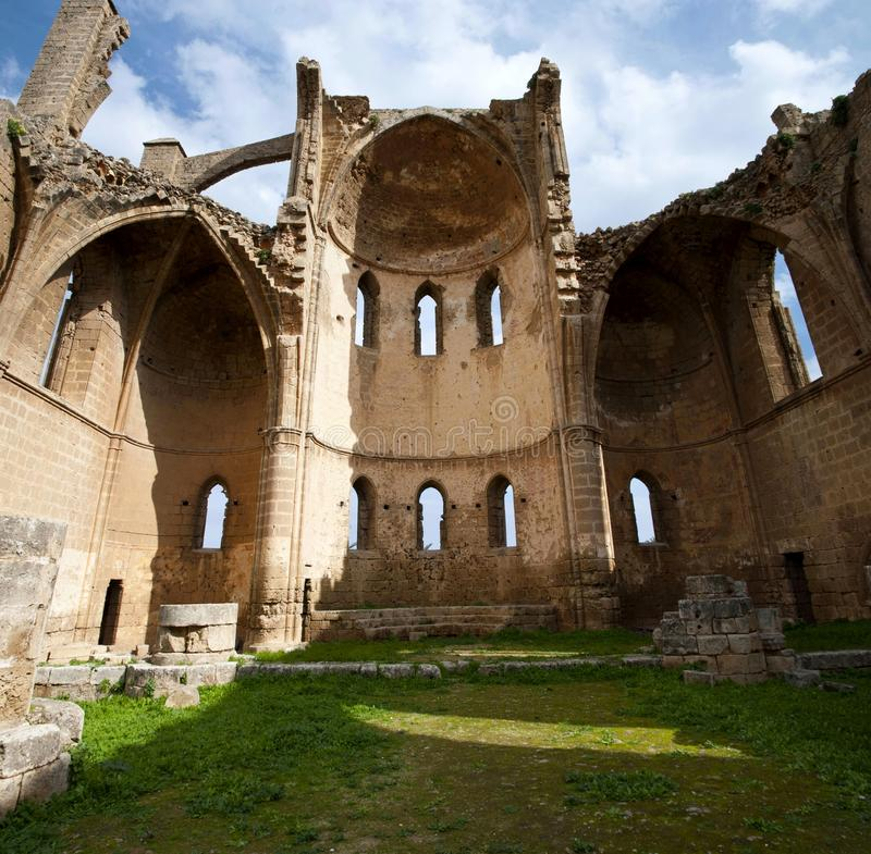 Ruins of St George of the Greeks Church. In Famagusta,Turkish Republic of Northern Cyprus stock photography