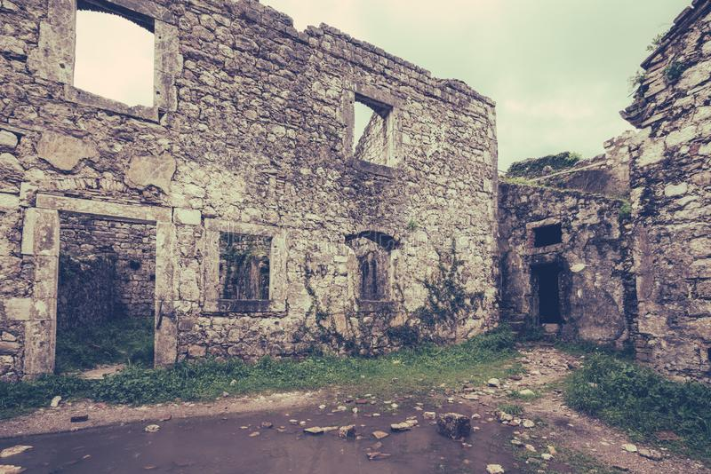 The ruins of the St John fortress stock image