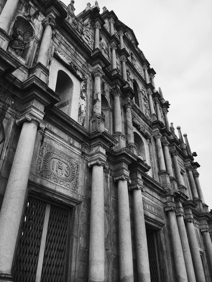 Ruins of St Paul in Macau royalty free stock photography