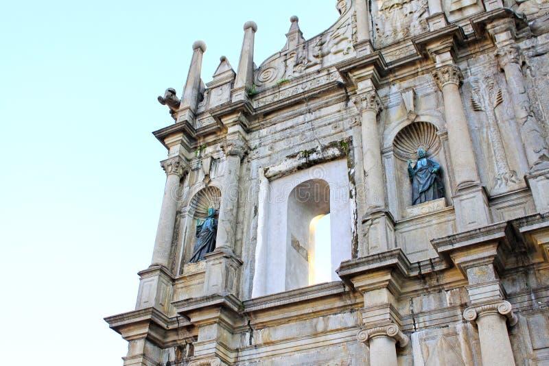 Ruins Of St. Paul, Macau, China, UNESCO World Heritage Site royalty free stock photos