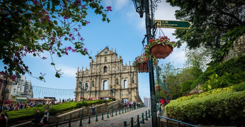 Ruins of St Paul Macau royalty free stock image