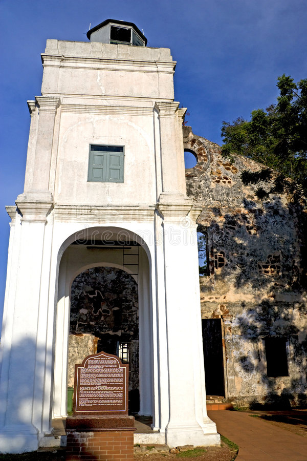 Download Ruins of St. Paul's Church stock photo. Image of world - 6726742