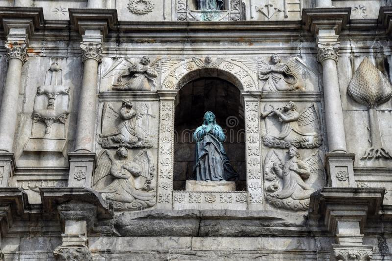 Ruins of St. Paul´s Church in Macao. royalty free stock photos