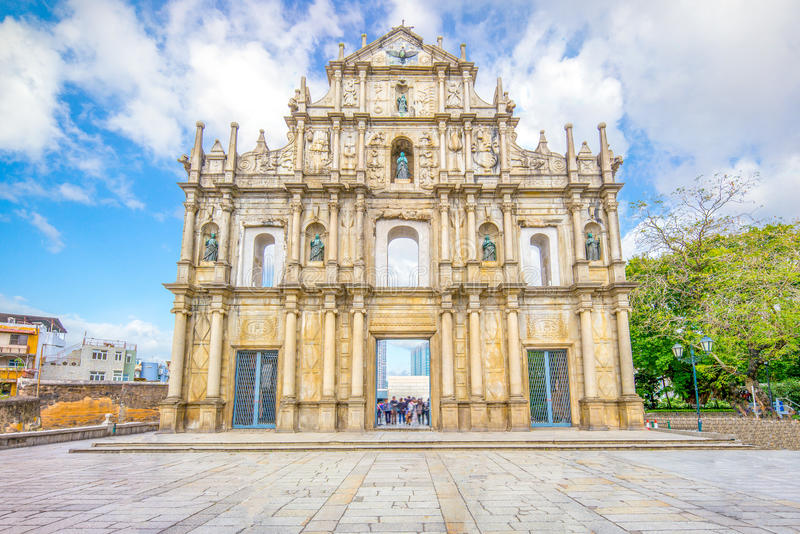 Ruins of St. Paul`s. In Macau, China stock photography