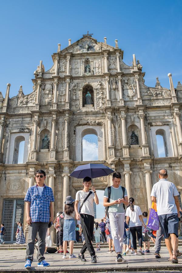 Ruins of St. Paul`s in Macau royalty free stock photography
