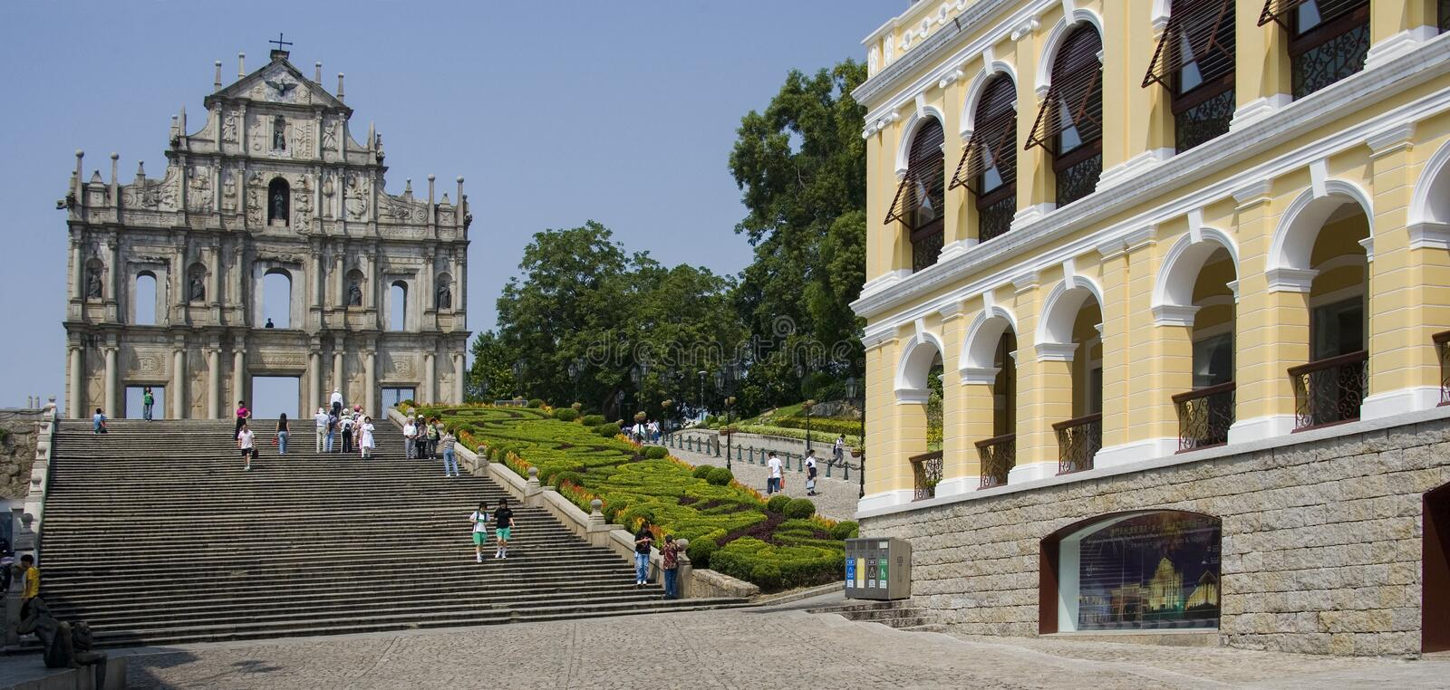 The ruins of St Pauls - Macau royalty free stock photography
