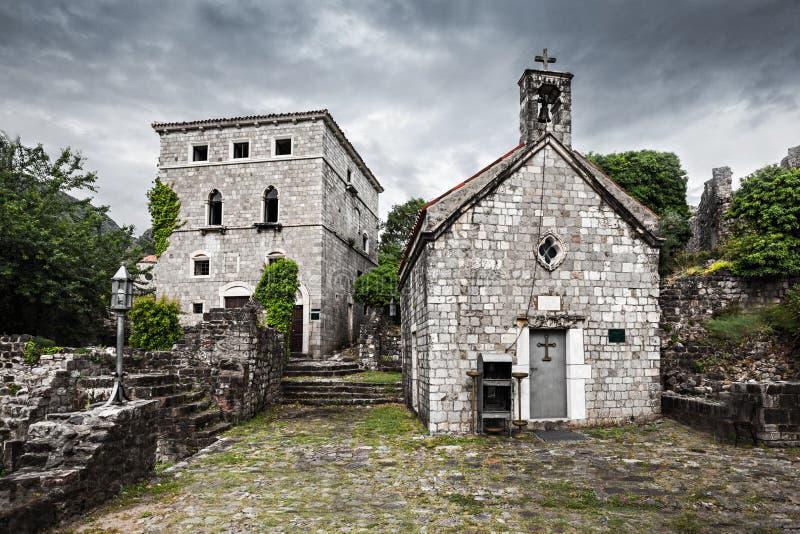 Ruins of Stari Grad. (Old Town), Bar in Montenegro royalty free stock photos