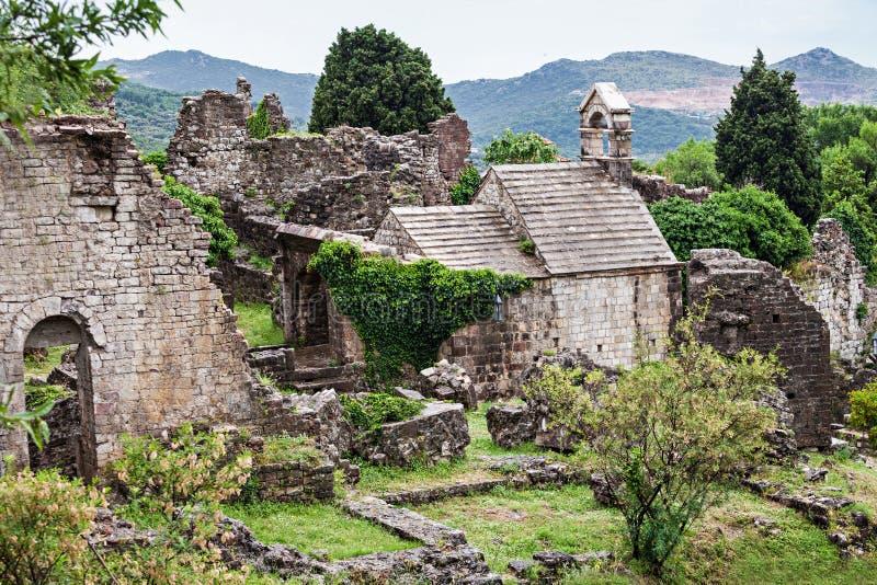 Ruins of Stari Grad. (Old Town), Bar in Montenegro royalty free stock images
