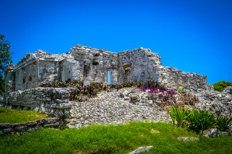 Ruins and summer stock image