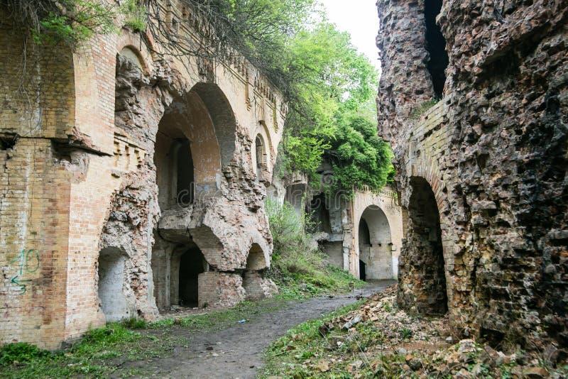 Ruins of Tarakanivskiy Fort, Rivne region, Ukraine royalty free stock photo