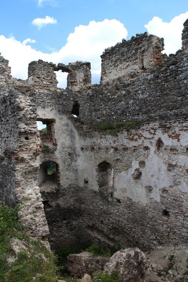 Ruins of Tematin castle stock photos