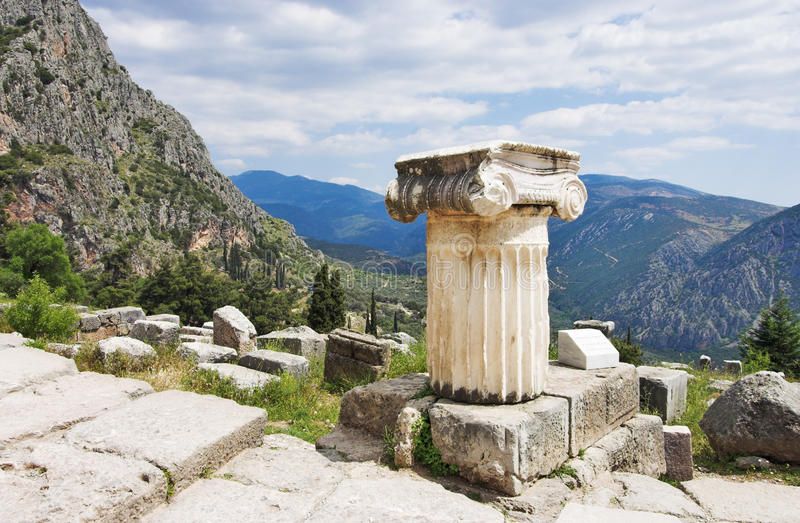 Download Ruins Of The Temple Of Apollo At Delphi Stock Photo - Image: 12761744
