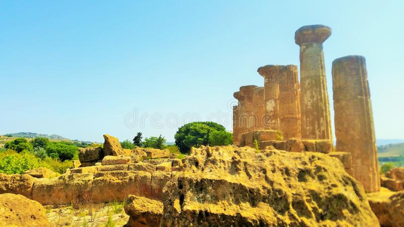 Ruins of a Temple royalty free stock photo