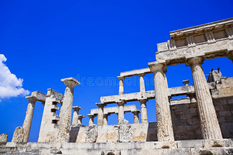 Download Ruins Of Temple On Island Aegina, Greece Royalty Free Stock Photos - Image: 20375018