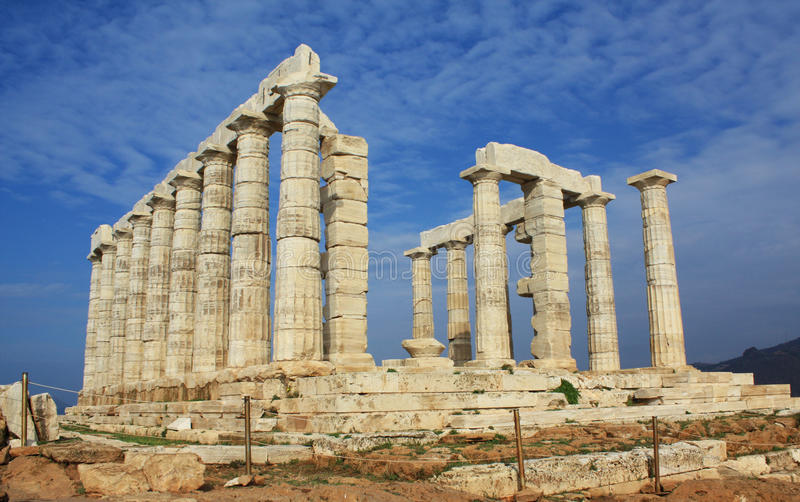 Download Ruins Of Temple Of Poseidon In Greece Stock Image - Image: 12176271
