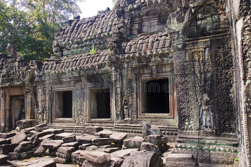 The ruins of the temple of Preah Khan royalty free stock photography