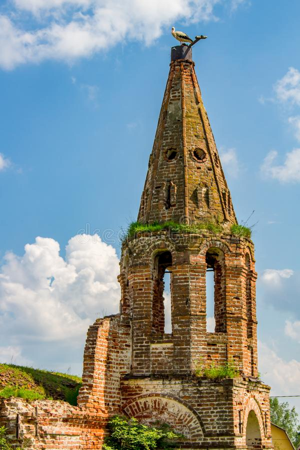 Ruins of the tent church of St. John the Evangelist of the 18th century, Russia stock photo