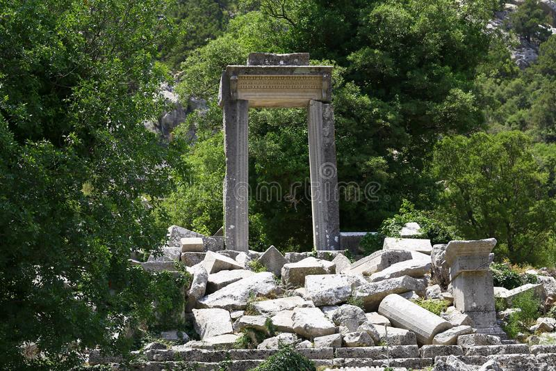 Termessos Antic City, Antalya, Turkey. Ruins of Termessos Antic City in Antalya, Turkey on sunny day royalty free stock images