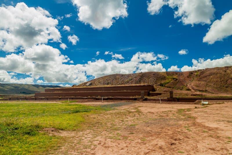 Ruins of Tiwanaku, Bolivia. Tiwanaku is an ancient city near the Lake Titicaca royalty free stock photos