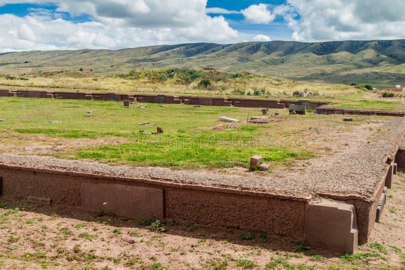 Ruins of Tiwanaku, Bolivia. Ruins of tombs in Tiwanaku, Bolivia. Tiwanaku is an ancient city near the Lake Titicaca stock photo
