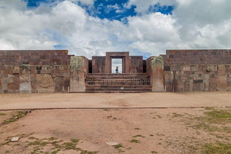 Ruins of Tiwanaku, Bolivia. Tiwanaku is an ancient city near the Lake Titicaca stock images