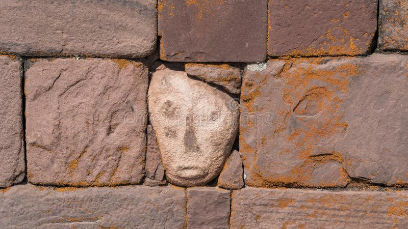 Ruins of Tiwanaku is a Pre Columbian archaeological site in western Bolivia royalty free stock photos